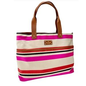 Kate Spade Oak Island Striped Magazine Tote